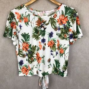 Pink Peony | Cropped Top | Printed | L Jrs